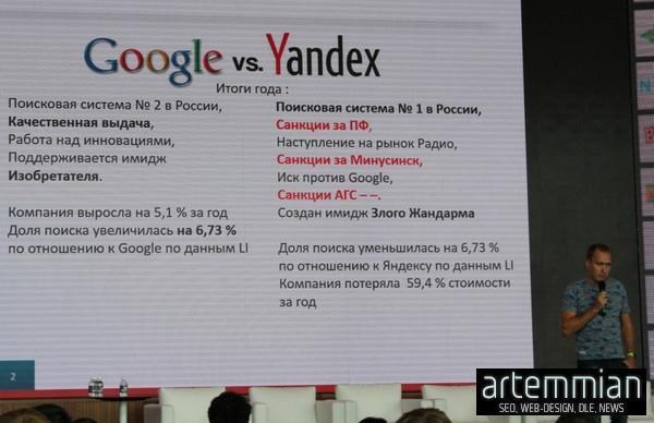 google vs yandex 2016 2 - SEO Conf 2015: В 2016 году Google может стать лидирующим поисковиком в рунете