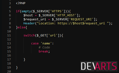 https redirech switch case in  else - PHP — делаем проверку наличия HTTPS или редирект