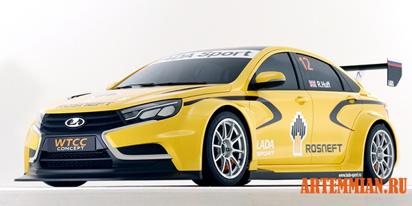 lada vesta wtcc 2015 - Lada SPORT - новая Vesta WTCC на трассе в Маньи-Куре