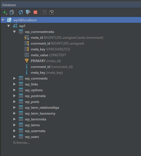 PhpStorm —  работа с базой данных