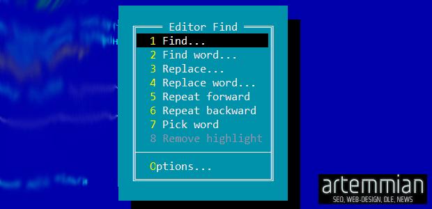 far manager find n replace - EditFind — плагин для поиска и массовой замены текста в FAR Manager