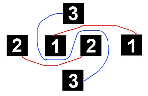 logic not crossing lines square ask - Соедини квадраты, чтоб линии не пересекались