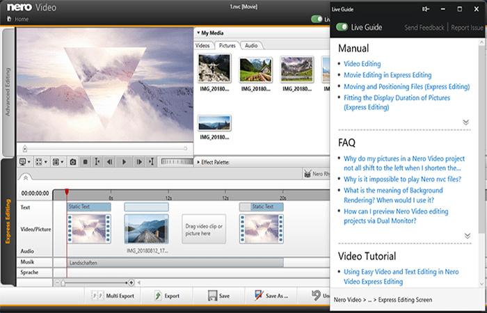 nero video montage window - Nero Vision Xtra  — нарезка и монтаж видео без углубленных знаний