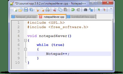 notepad pp - Notepad++ — мощный бесплатный редактор кода
