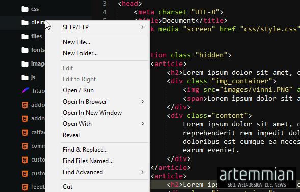 sublime text SideBarEnhansements - Sublime Text — набор необходимых плагинов для повседневной работы