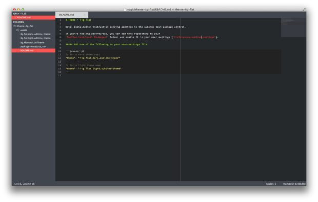 theme itg flat 620x394 - Sublime Text — подборка лучших Flat и Material тем оформления