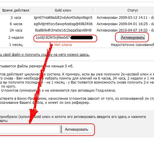 depositfiles keys u points - Depositfiles — GOLD аккаунты, как это было в 2009 году