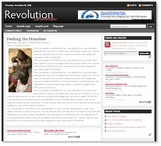 revolution crunch blogger - Смена дизайна. Новый шаблон сайта