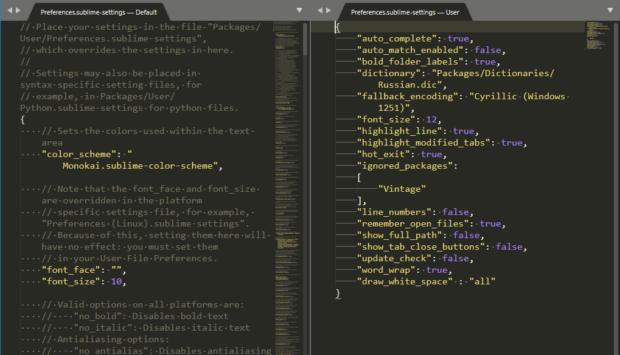 sublime text content settings 620x355 - Копирайтинг — пишем контент-план в редакторе кода Sublime text