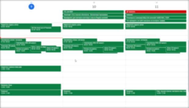 Карта свободного времени в Google Calendar с задачами из Todoist